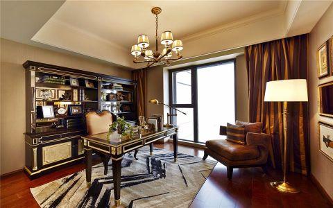 书房窗帘简欧风格效果图