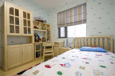 儿童房床简约风格装潢设计图片