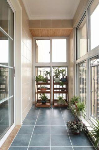 阳台地砖中式风格装修设计图片