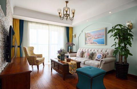 红豆人民路89平美式两室两厅一厨一卫实景图