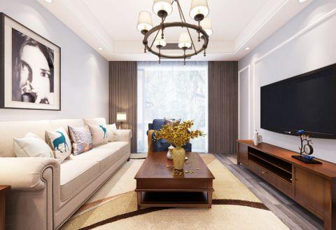 深业华府74平米小美混搭风格两居室装修效果图