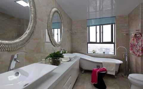 卫生间浴缸混搭风格装潢效果图