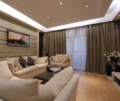 金皇公寓120平现代简约风格三室两厅装修效果图