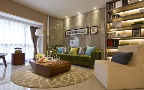 御城140平混搭风格三居室装修效果图