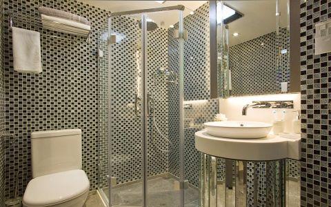 卫生间推拉门混搭风格装潢效果图