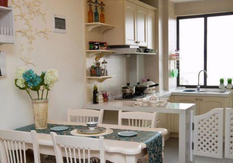 龙湖春江郦城田园风格90平米三室两厅一卫装修效果图