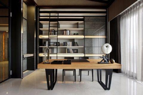 书房书桌新中式风格装饰设计图片