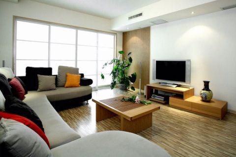 财信时光里现代风格79平两居室装修效果图