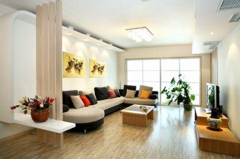 客厅地砖现代风格装饰效果图