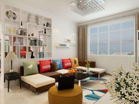 客厅橱柜现代简约风格装修设计图片