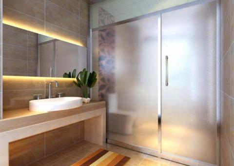 卫生间洗漱台日式风格装潢设计图片