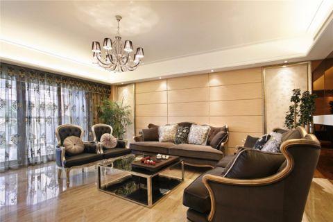 鑫都汇142平欧式风格三居室装修效果图
