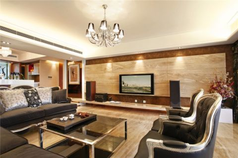 客厅背景墙欧式风格装修效果图