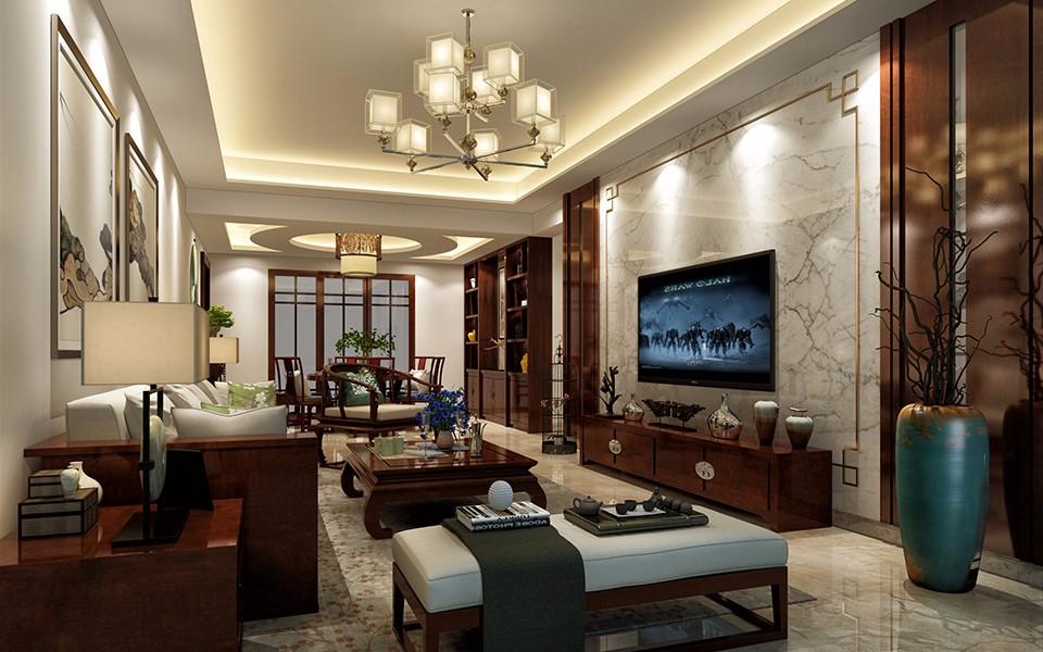 3室1卫2厅124平米新中式风格