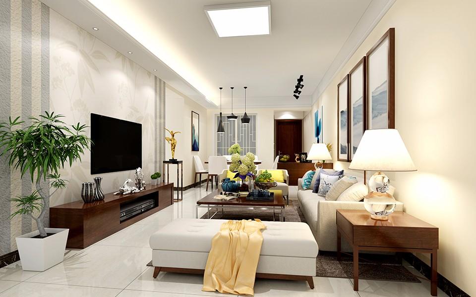 3室1卫1厅88平米现代简约风格