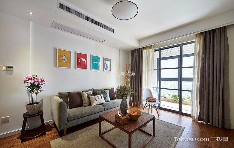 客厅 背景墙_佳兆业滨江新城北欧75平两居装修效果图