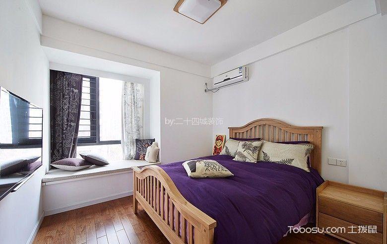 卧室 飘窗_佳兆业滨江新城北欧75平两居装修效果图