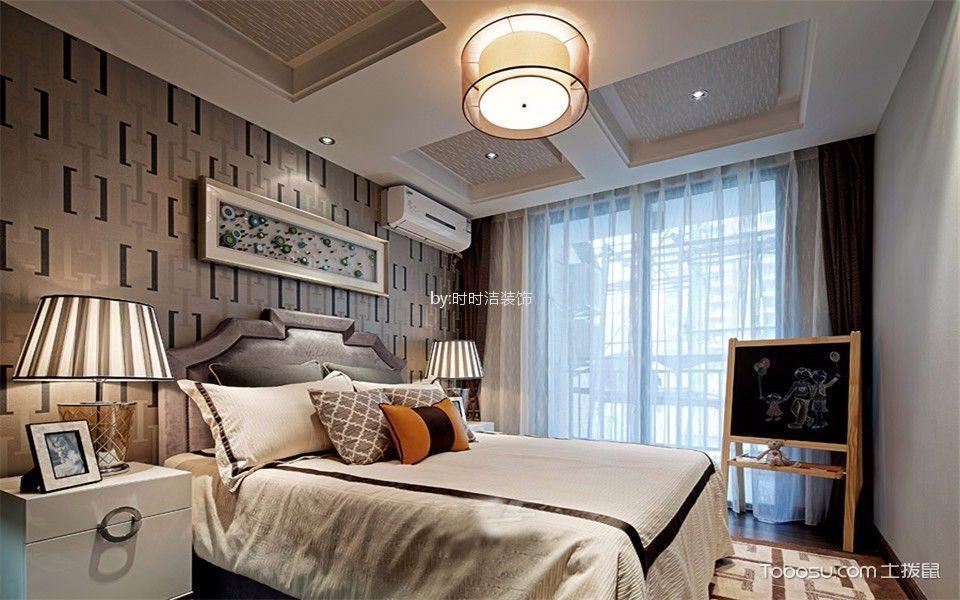 儿童房白色床新中式风格装潢图片