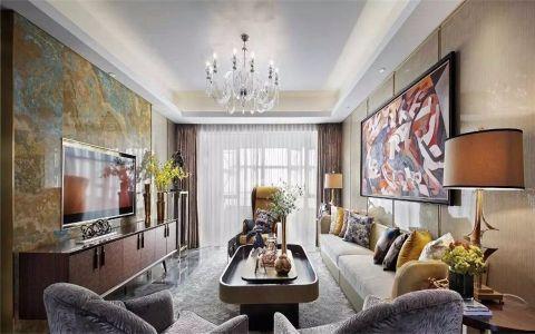虎啸花园139平三室两厅两卫欧式风格装修效果图