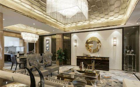 清江西苑149平三室两厅两卫欧式风格装修效果图