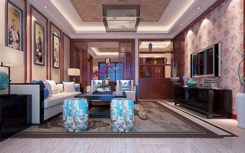 海航豪庭150平米中式现代中式风格套房装修效果图