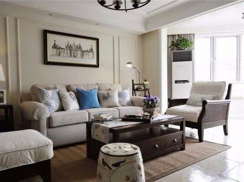 凤凰湾美式风格91.46平米二居室装修效果图