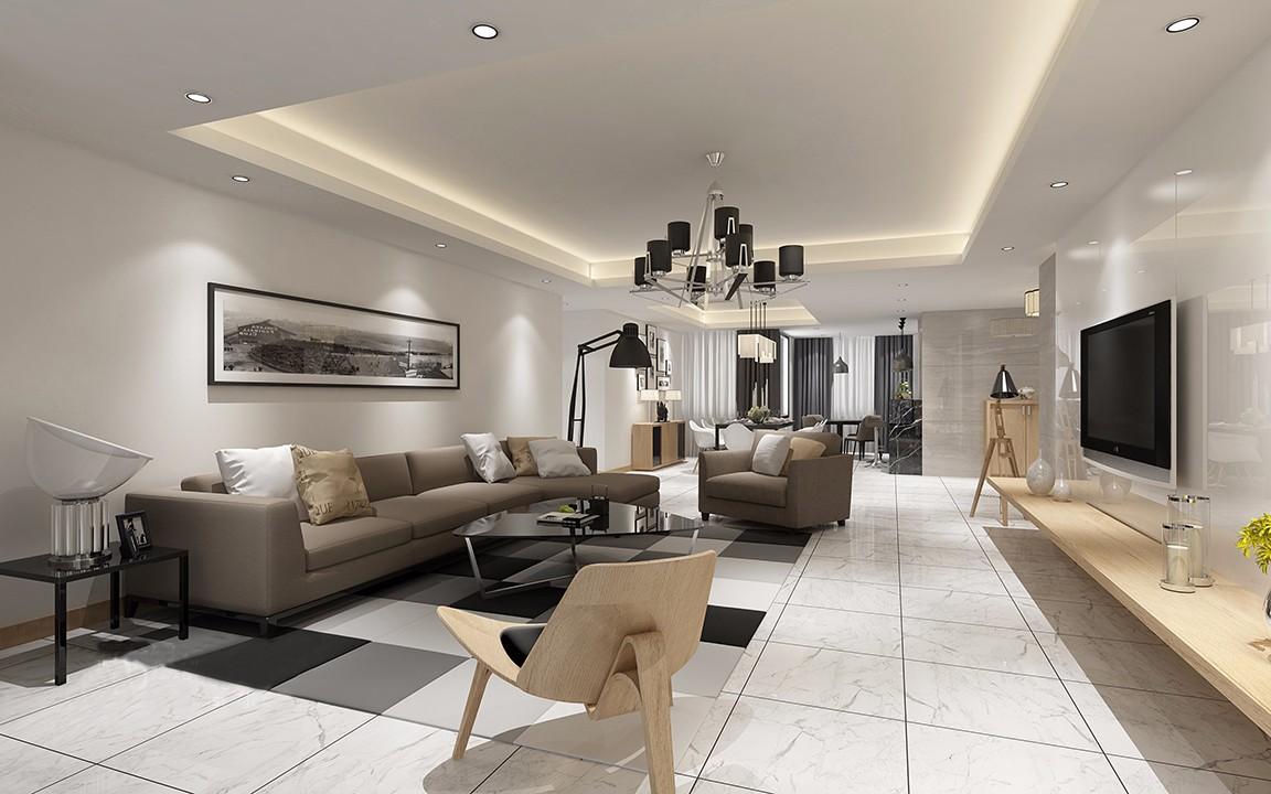 4室2衛2廳163平米現代風格