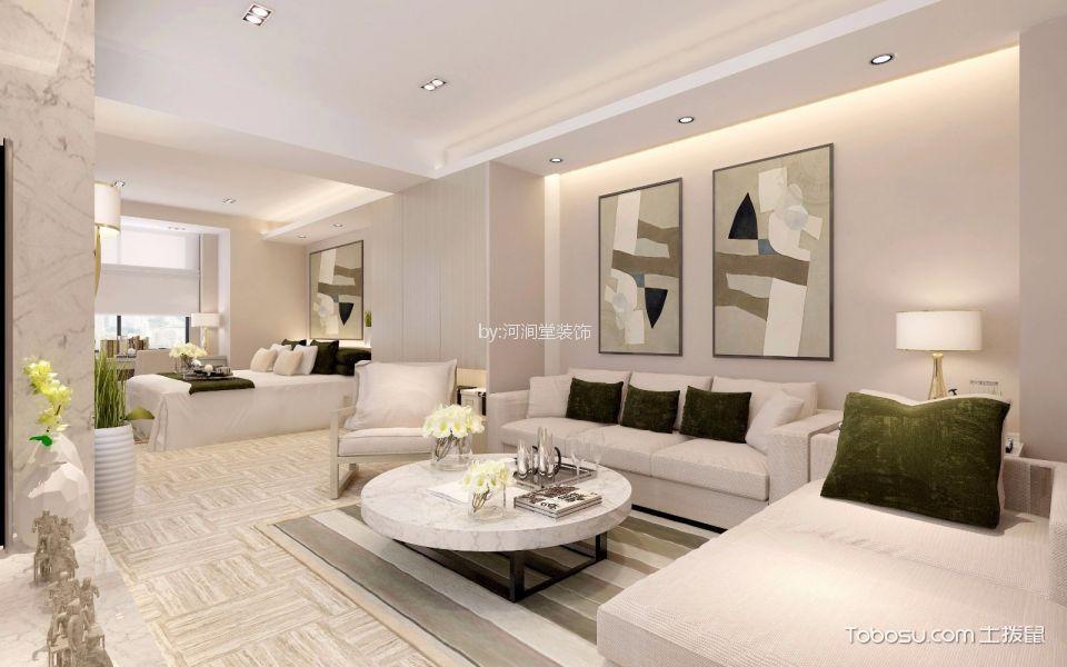 120平米西海豪庭现代简约风格三居室装修效果图