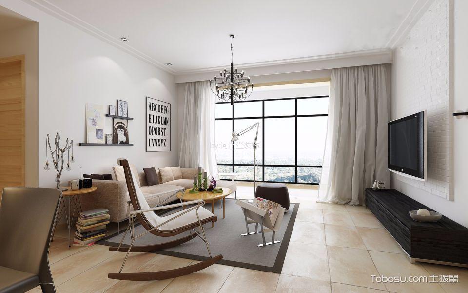 100平米西海豪庭三居室现代简约风格装修效果图
