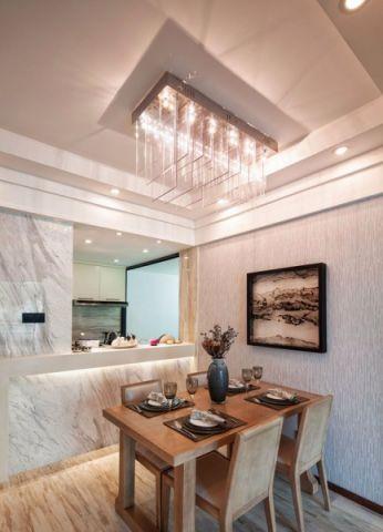 餐厅白色小餐桌设计效果图