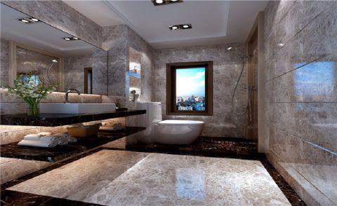浴室背景墙现代简约风格装修效果图