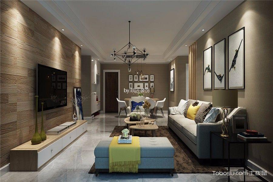 百商悦澜山110平现代风格三居室装修效果图
