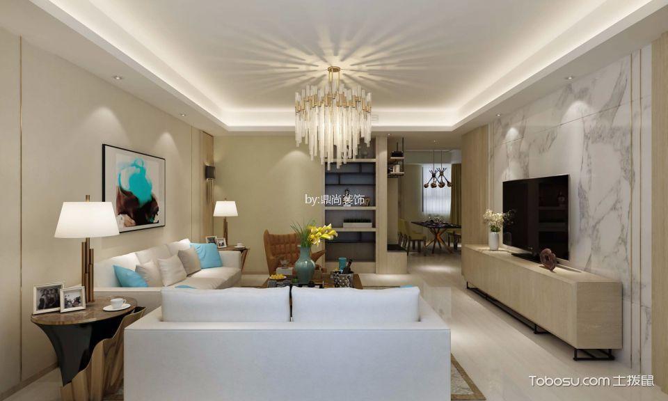 无锡东城中央府现代风格三室两厅装修效果图