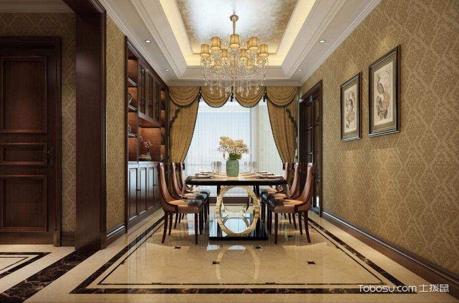 无锡玉兰花园美式风格三室两厅装饰效果图
