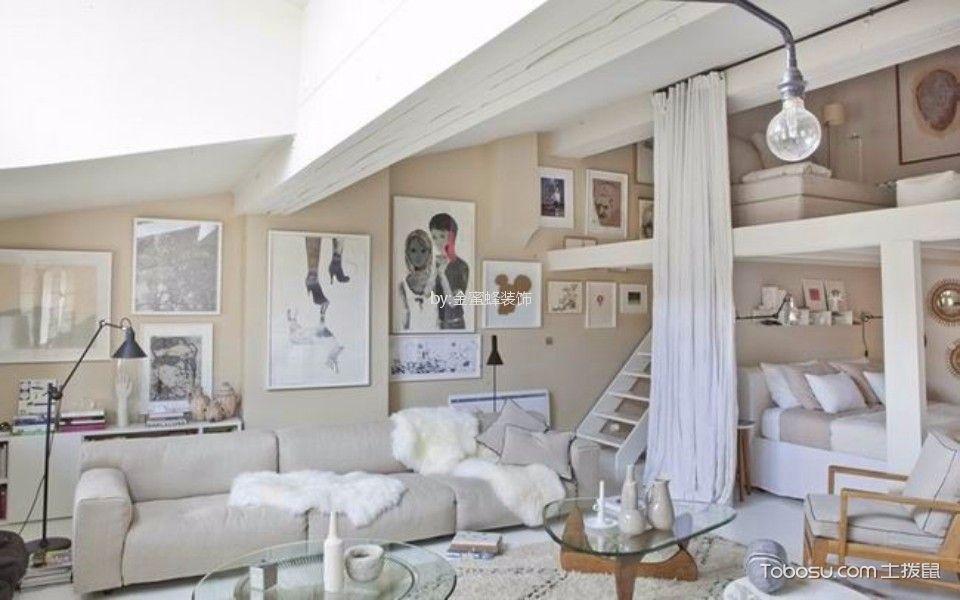 同景国际城50平米法式风格一室一厅一卫装修效果图