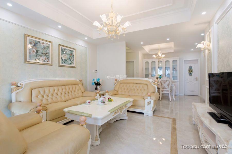 客厅 背景墙_亚洲湾76平欧式风格二居室装修效果图