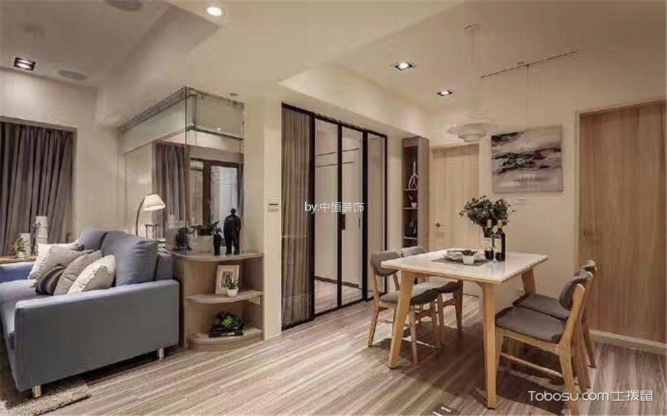 东城美地48平米简约风格一居室装修效果图