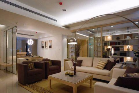 上海新苑110平三室兩廳中式風格裝修效果圖