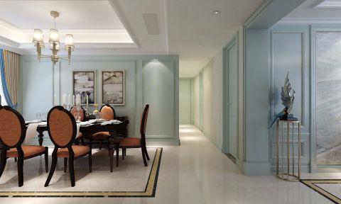 無錫東城中央府簡歐風格三室兩廳裝飾效果圖