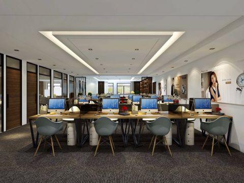 扬州金融城办公室现代简约装饰效果图