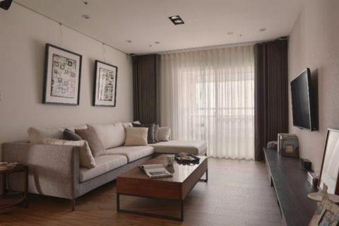 碧水芳洲110平三室两厅现代简约装修效果图
