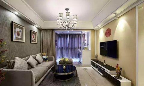 卧湖新苑89平三室一厅现代简约风格装修效果图