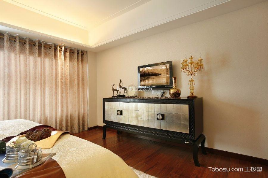 卧室彩色电视柜欧式风格装潢设计图片