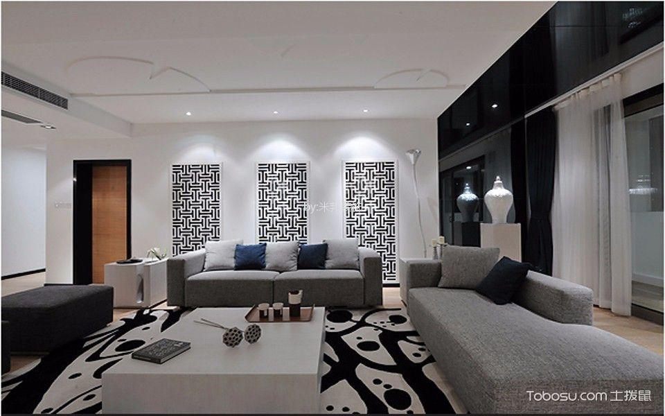 喜盈门140米混搭风格三居室装修效果图