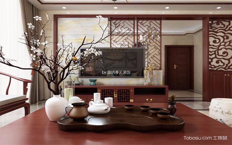 【印象泰山】128平米中式红木风格装修效果图