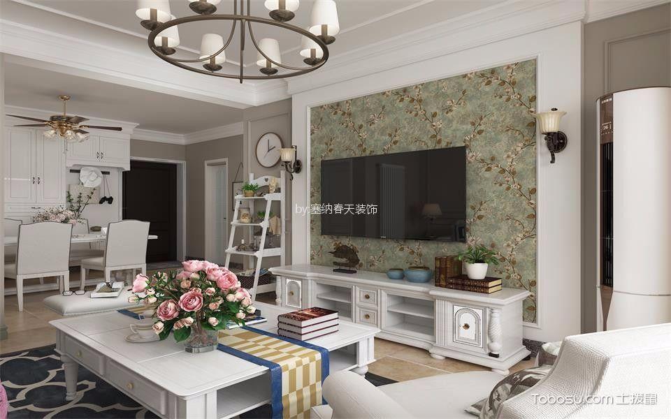 110㎡/美式/二居室装修设计