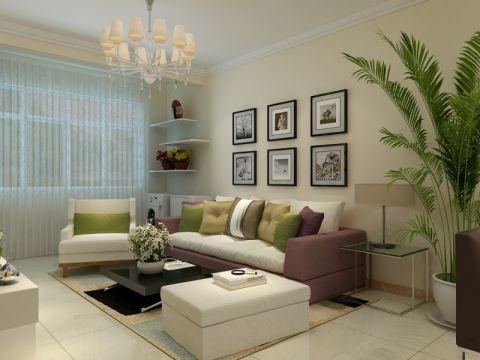领秀城92平二居室现代简约装修效果图