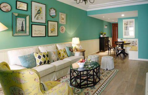 保利爱尚里10万美式风格80平三居室装修效果图