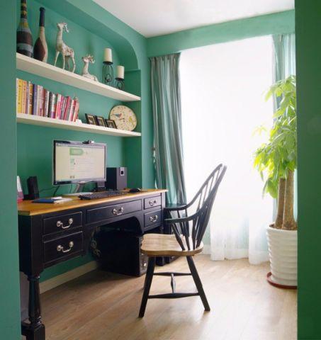 书房书架美式风格装饰效果图