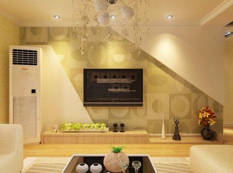 城阳卓越蔚蓝群岛现代简约风格90平米二居室装修效果图
